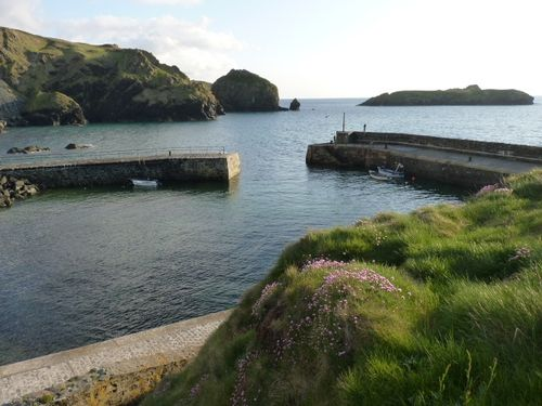 A calm evening at Mullion Cove in Cornwall