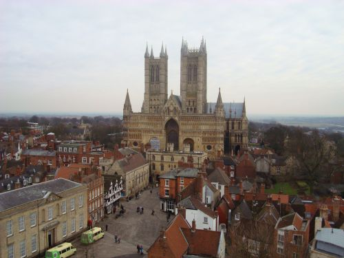 The Cathedral view from Lincoln Castle