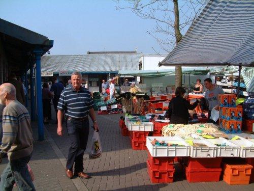 The open-air market, Carmarthen