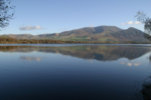 Skiddaw and Longside viewed from across Bassenthwaite Lake