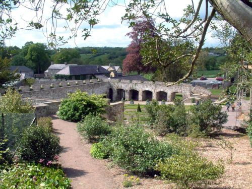 The Walled Garden at Aberglasney, near Llangathen, Carmarthenshire