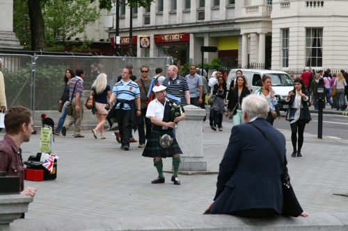 Pat the Piper in Trafalgar Square