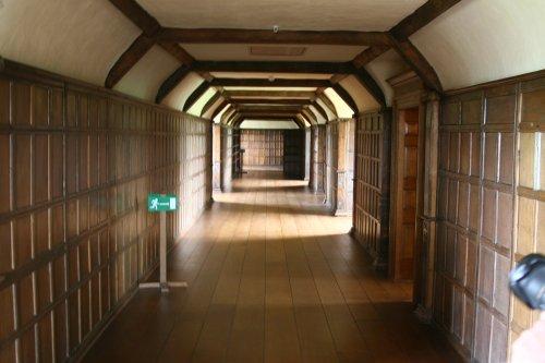 Passage upstairs at Barrington Court.