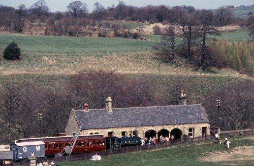 Train at Rowley Station.