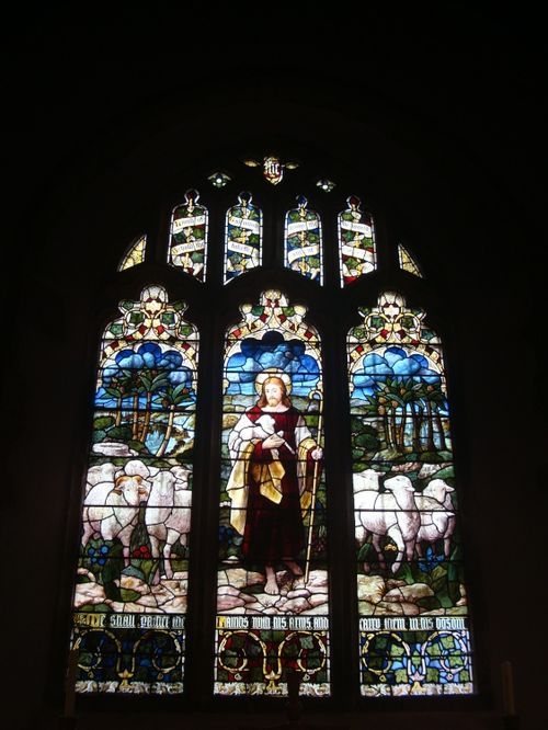 Stained glass window, St Peter's Church