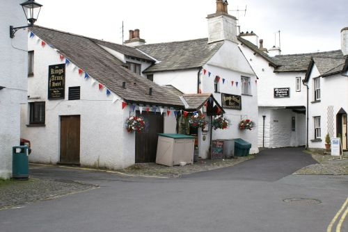 The Kings Arms and Minstrals Gallery in Hawkshead