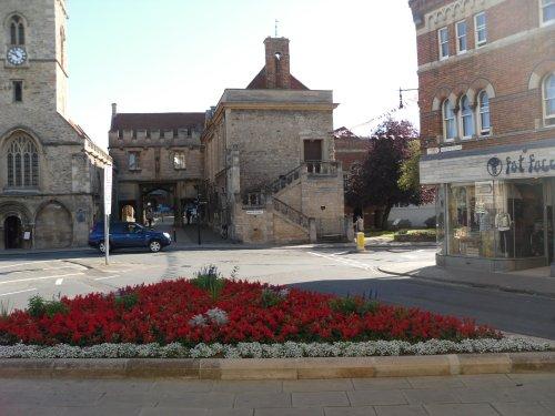 Abingdon, the town centre and St Nicolas Church