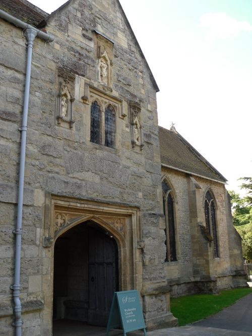 Abingdon, entrance to St Helen's Church