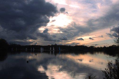 Sailing at Kingsbury Water Park