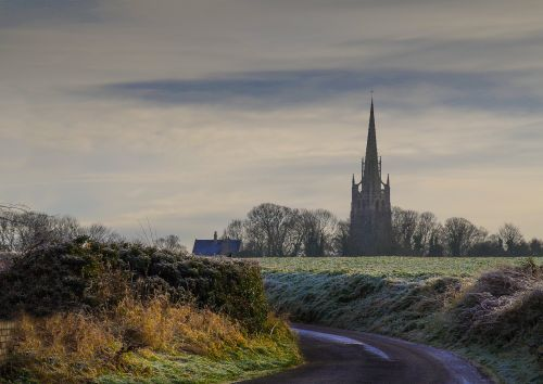 Frosty morning in Laughton en le  Morthen