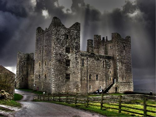 Bolton Castle, after the storm.