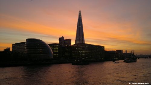 The London Shard at Sunset