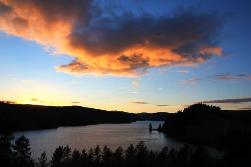 Sunset over Lake Vyrnwy 2
