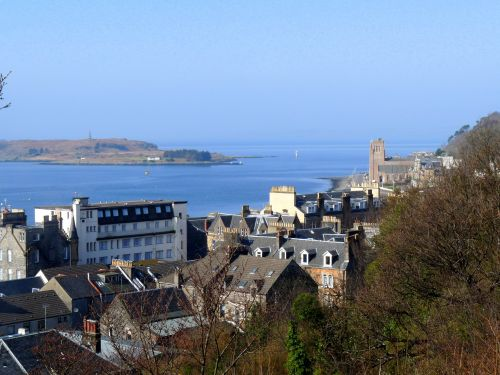 Looking down on Oban