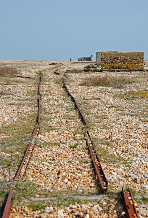 Off the rails, Dungeness Beach