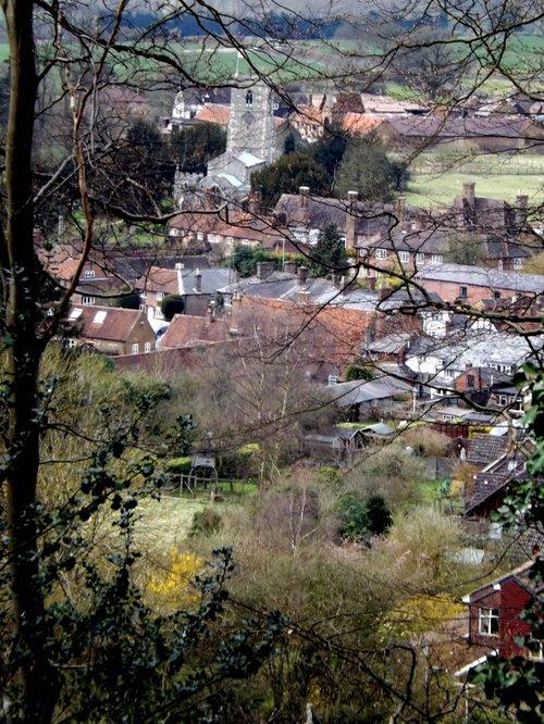 View down to Aldbury, Herts