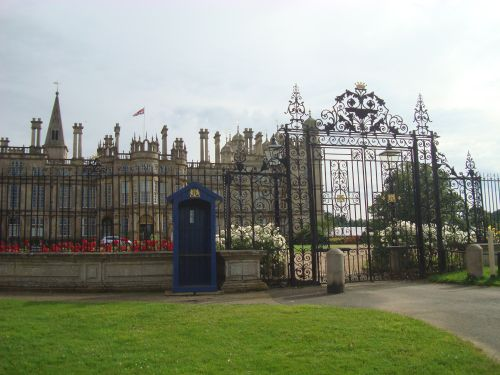 Burghley House gate