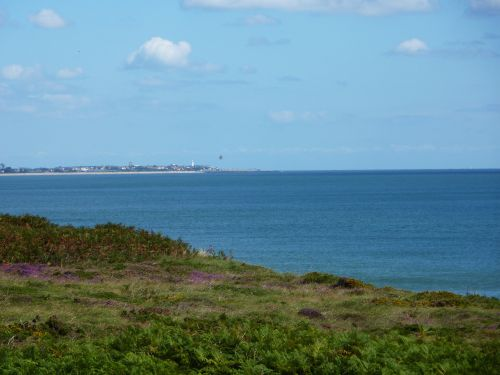 On Dunwich Heath with a view of Souhwold in the distance