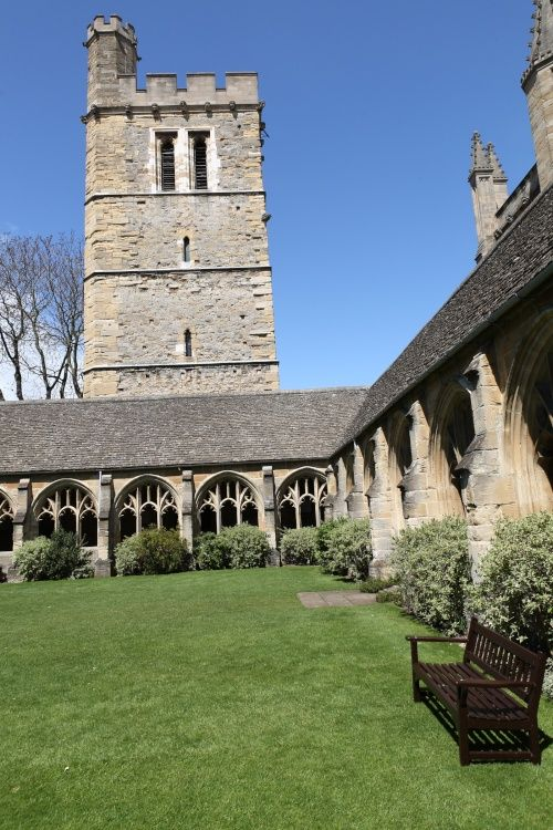 New College Oxford, the Cloisters and the Bell Tower