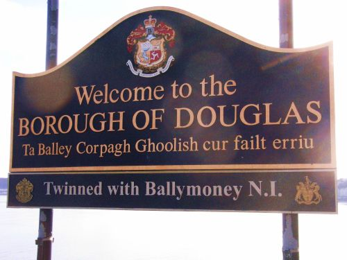 The Douglas Welcome sign