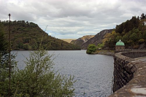 Careg-Ddu Dam and Foel Tower,Elan Valley