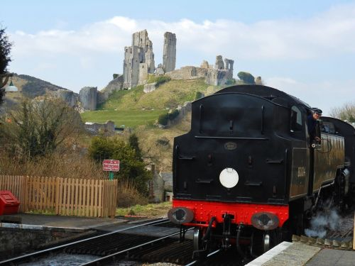 Steam Railway at Corfe Castle