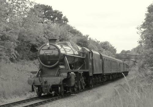 Stanier 8F 48624 on the Great Central Railway