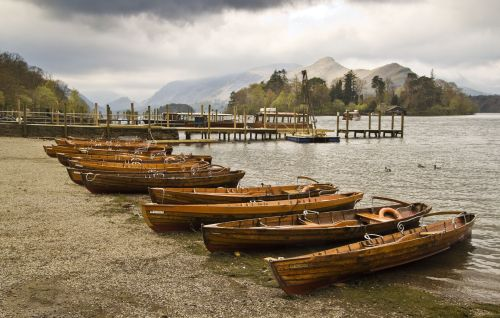 Rowing boats and Catbells