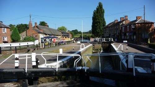 Grand Union Canal Lock at Stoke Bruerne