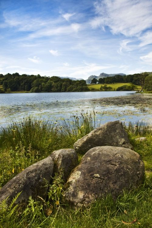 Loughrigg Tarn and rocks