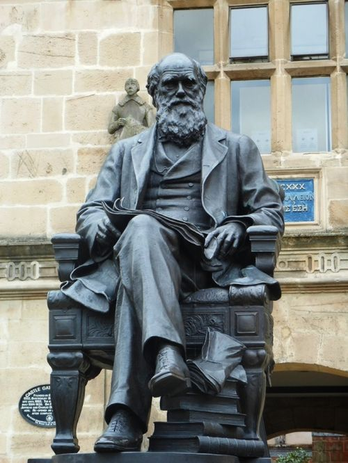 """Statue of Charles Darwin, Shrewsbury"""" by Jenny Fairbrother at  PicturesofEngland.com"""