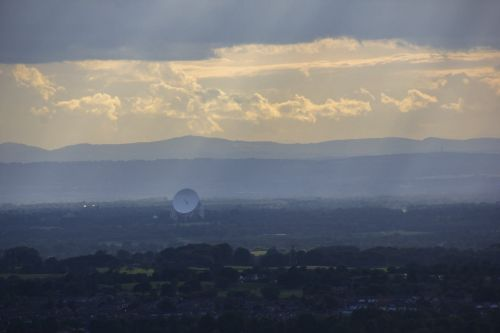 Jodrell Bank Radio Telescope from Teggs Nose