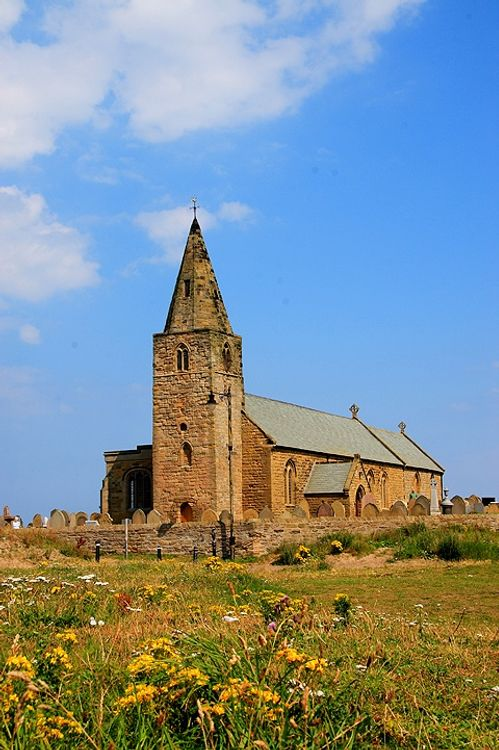Fourteenth Century Parish Church at Newbiggin-by-the-Sea