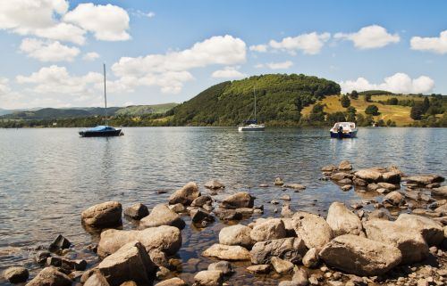 Ullswater rocks and boats
