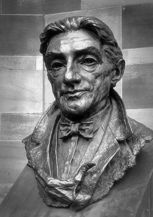 Barbirolli bust, Bridgewater Hall, Manchester.
