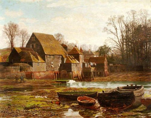 Painting of Cams Mill, Fareham