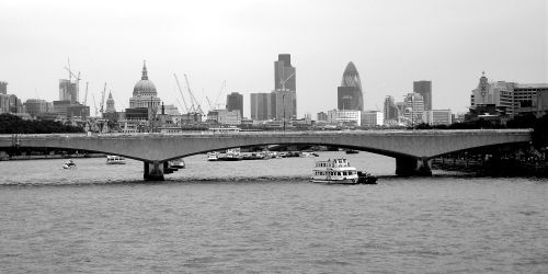 The River Thames and London Skyline