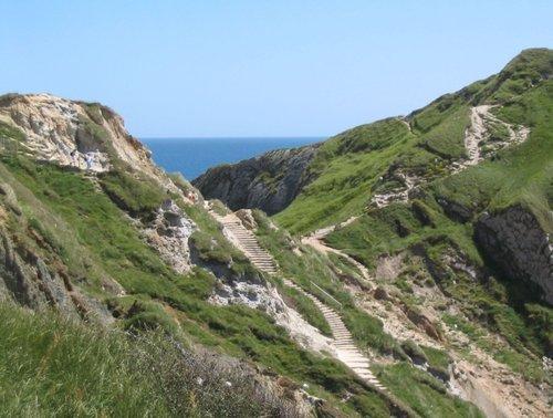 Durdle Door Cliffs & Steps (1) - June 2003