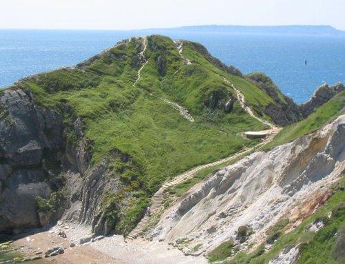 Durdle Door Cliffs & Steps (2) - June 2003