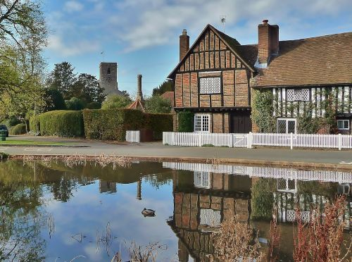 Village Pond, Aldbury, Herts