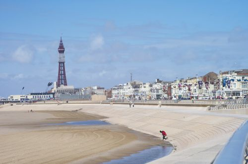 Blackpool seafront with Blackpool Tower in the background
