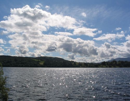 Sun Sparkling on Lake Windermere (4) - August 2007