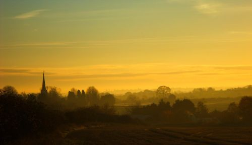 Dawn at Whittington, Staffordshire