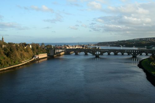 Berwick. photo taken from the train heading south