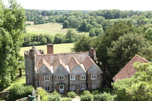 The Dower House, seen from the Tower at Greys Court