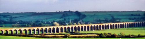 Welland railway viaduct know locally as Harringworth or Seaton viaduct