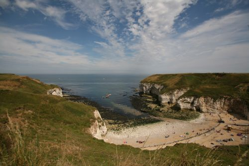 North Landing beach , Flamborough .