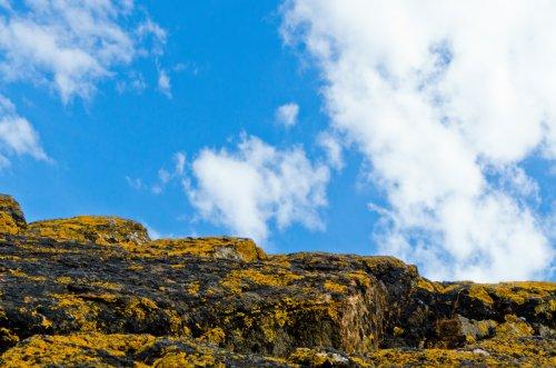 Rocks, Clouds and Sky