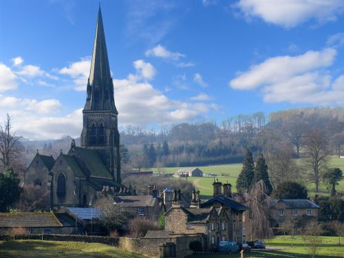 Edensor, Derbyshire - High Resolution