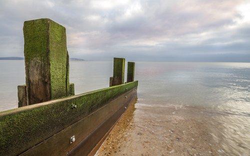 Calm sea at Milford on Sea